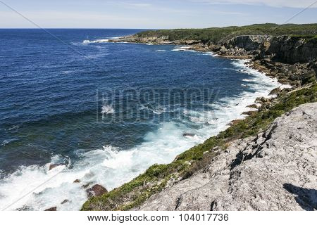 Rocky Coast Of Booderee National Park. Nsw. Australia.