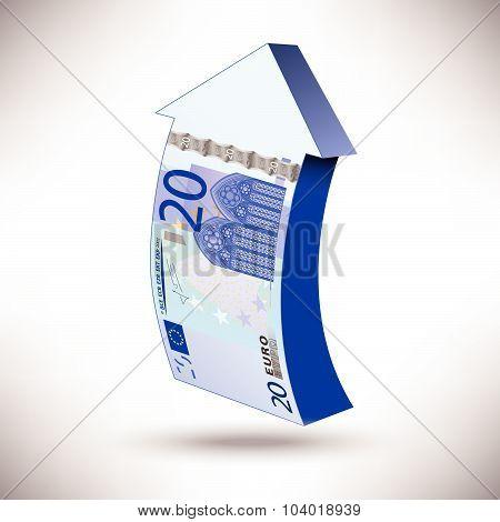 a 20 euros banknote