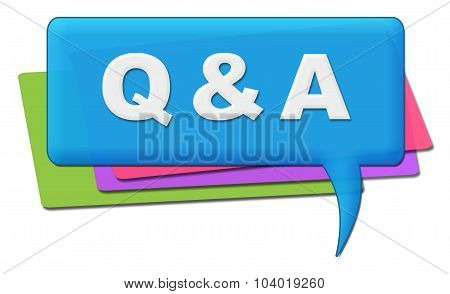 Q And A Colorful Comments Symbols