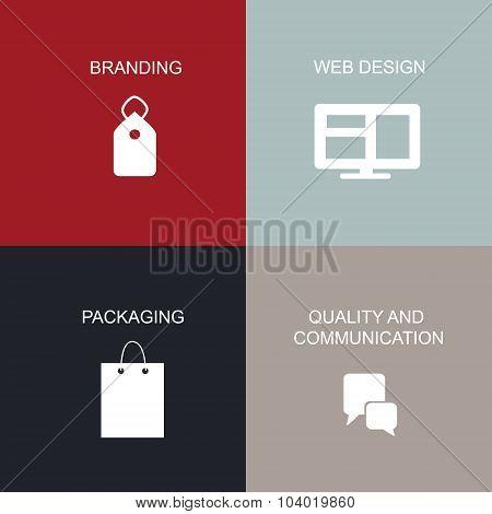 Brand tactics vector