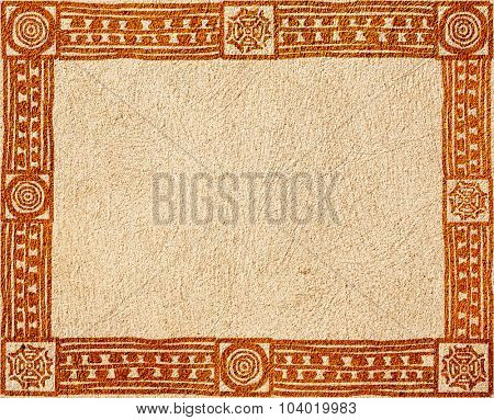 Grunge background with American Indian traditional patterns and stucco texture