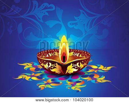 Abstract Artistic Blue Diwali Background