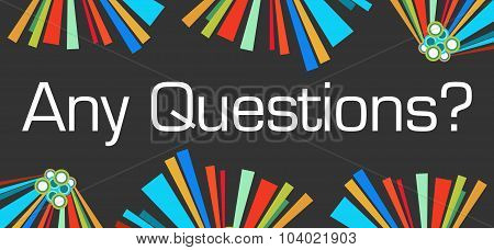 Any Questions Dark Colorful Elements