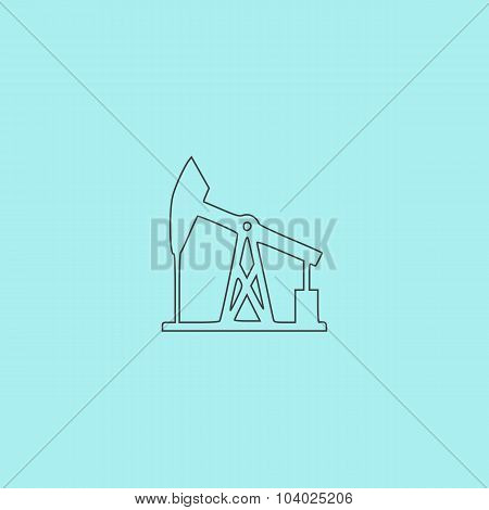 Oil derrick.  vector icon.