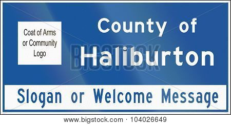 County Name Sign In Ontario - Canada