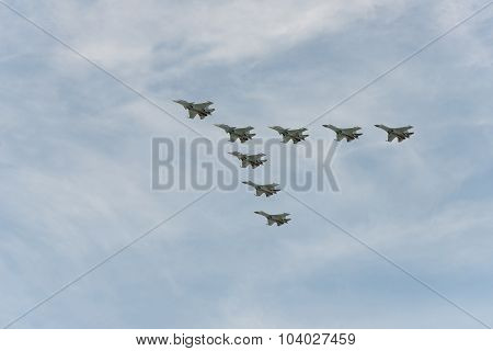 Group Of Airplanes