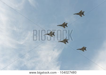 Group Of Airplanes Mig-29