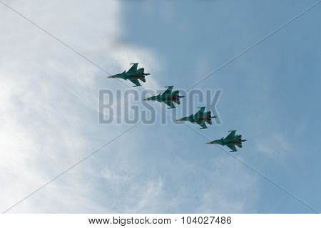Group Of Airplanes Sukhoi Su-33