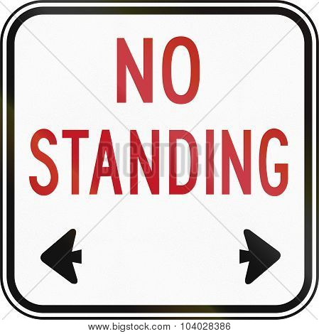 No Standing Square Sign In Canada