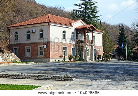 Kakheti, Georgia-March,3 2015: Hareba Winery - office building in Kakheti Region, Georgia