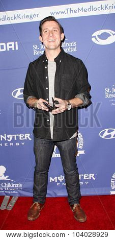 MOORPARK, CA - OCT 5: Magician Lee Terbosic arrives at the 8th Annual Medlock/Krieger Invitational Golf Concert at the Moorpark Country Club in Moorpark, CA on October 5, 2015.