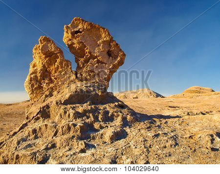 Bizarre rock formation in Moon Valley of Atacama
