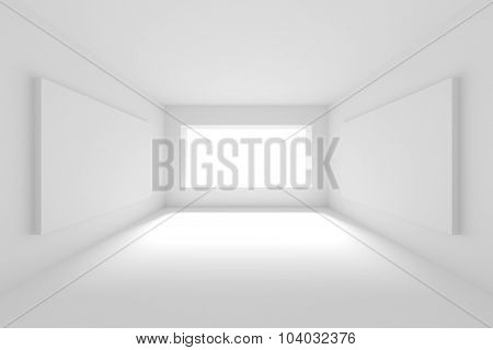 Modern Interior Background. White Empty Room