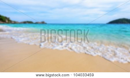 Blurred Sea And Beach At Similan Island, Thailand