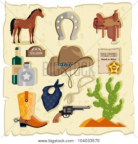 Elements of Wild West Cactus Revolver Hat