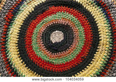 Old Color Handmade Textile Carpet.