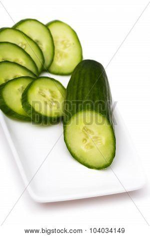 Cucumber Cut By Rings