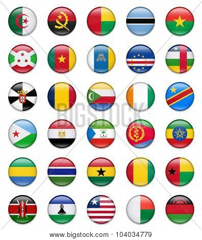 Africa Button Flag Collection-Part 1