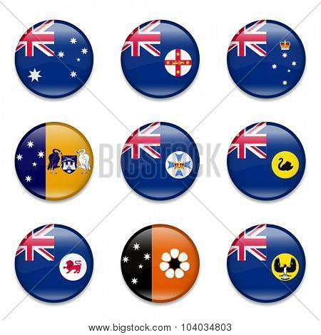 Australian states and mainland territories flag collection -complete