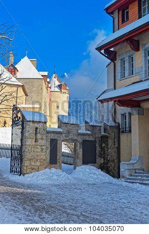 Swiss Village Gruyere In Winter