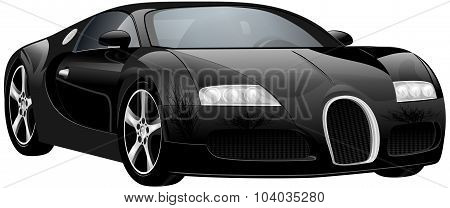 Vector Luxury Sports Car. Original Design
