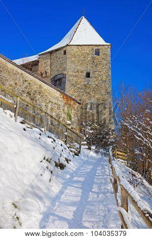Walls Of Castle Of Gruyeres