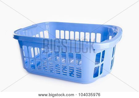 Plastic Basket. Plastic Basket On Background. Plastic Basket On A Background.