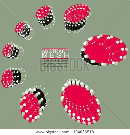 Abstract Mesh Vector Illustration, Template For Technology Theme Layouts, Connection, Communication,