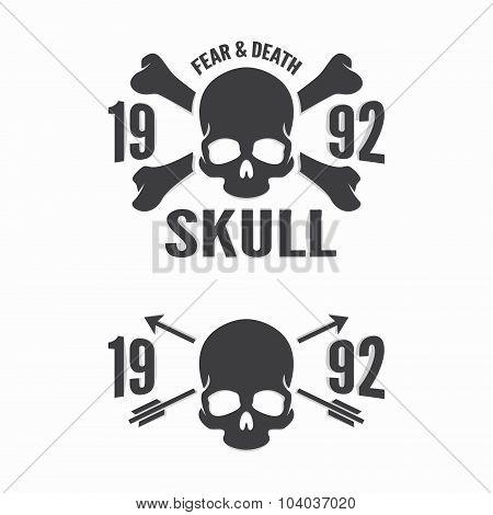 Vector skull and bones logos