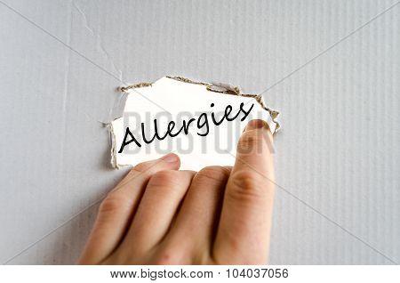 Allergies Text Concept