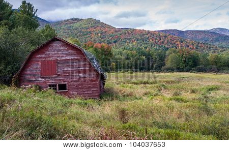 Old run down barn