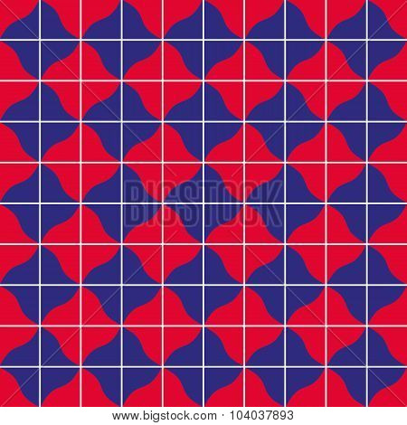 Retro tiles colorful seamless pattern or vector background.