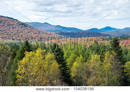Fall colors in the Adirondack mountains