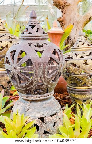Old pottery in the garden