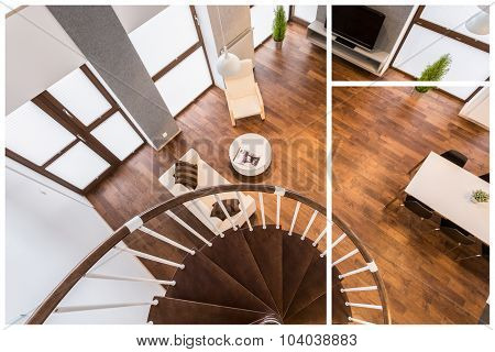 Wooden Stairs And Parquet