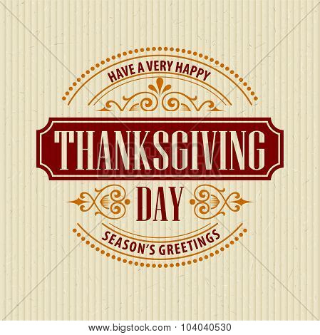 Typographic Thanksgiving Design. Vector illustration