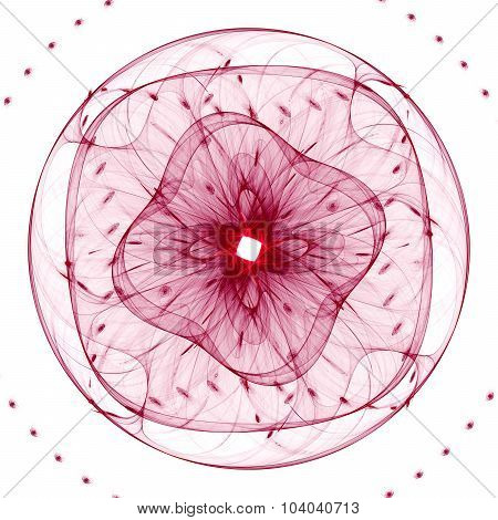 Cabalistic pattern in the form of circle with rays radiating from the center.