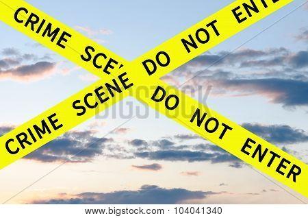 Crime scene do not enter