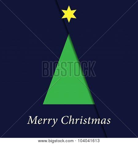 Greeting Card - Christmas Green Tree