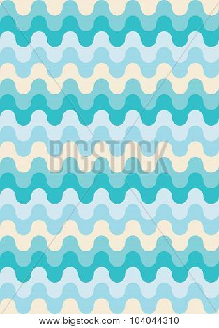 Vector modern seamless colorful geometry pattern waved lines color monochrome blue