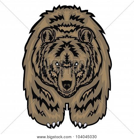 vector illustration depicting a grizzly bear