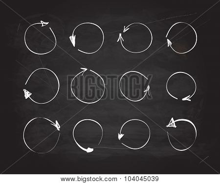 Vector scribble chalkboard design elements