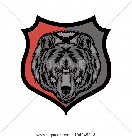 Vector stylish grizzly bear mascot