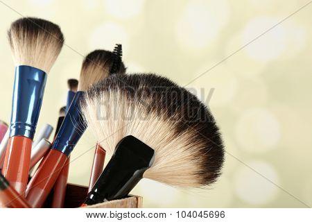 Make up set on bright background