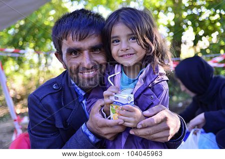 Refugees In Bapska (serbian - Croatina Border)