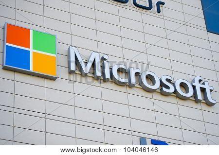 Microsoft Corporation sign