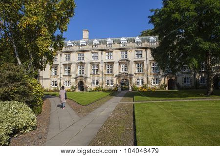 Fellows' Building At Christ's College In Cambridge