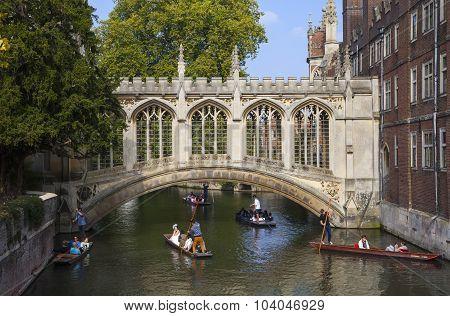 Bridge Of Sighs In Cambridge