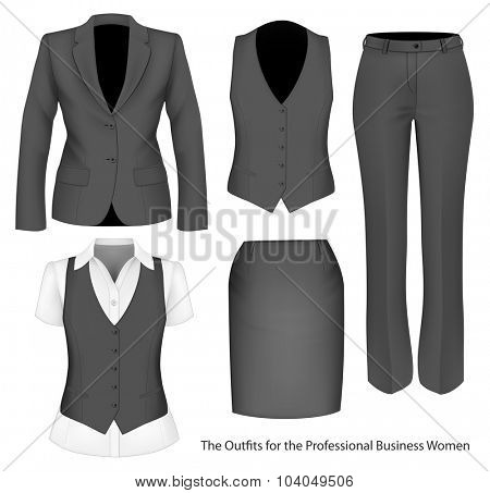 Formal wear for business women. Vector illustration.