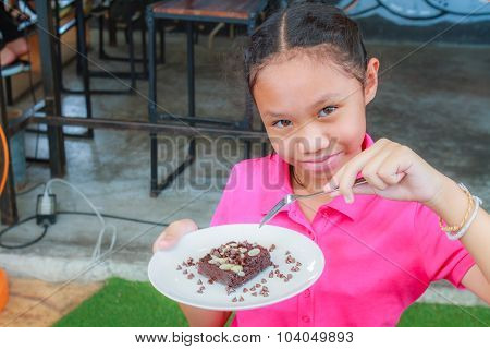 Child Eat Brownie